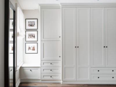 Шкаф-Распашной Белые матовые Фасады